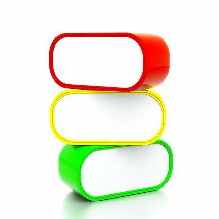 thinking bubble: a color speach bubbles on white