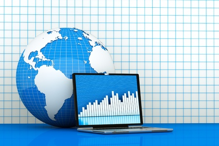 check the changes of the world economy Stock Photo