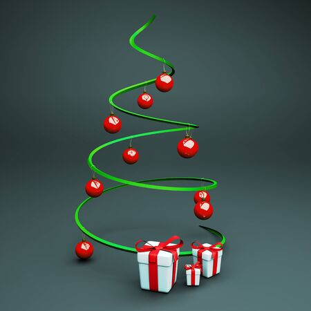 a x-mas tree with presents Stock Photo - 11316733
