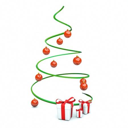 a x-mas tree isolated on white Stock Photo - 11316717