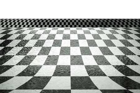 a chessboard wave background Stock Photo - 11316756