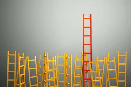 un concorso concetto, scale in grigio