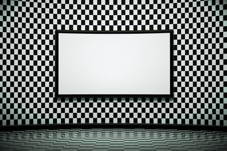tv room: a creative black and white room with blackboard