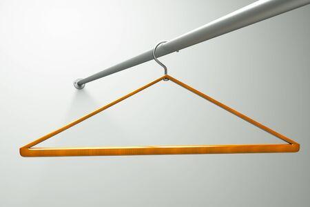 a single hanger in a closet