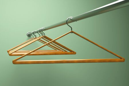 clothes hangers: a hangers in a closet