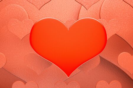 sq: a red hearts background
