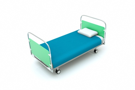 a hospital bed isolated on white Stock Photo - 11573316