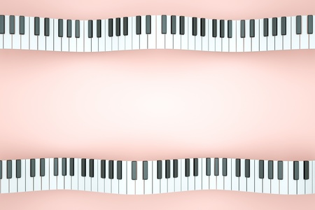a piano keyboard waves as a creative background Stock Photo - 11573387