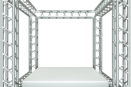 metal structure: a center stage with metal frame, put your object in the center