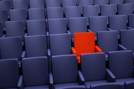 special individual: a movie theater seats, one special seat