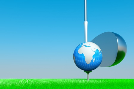 a world golf copetition concept Stock Photo - 11886093