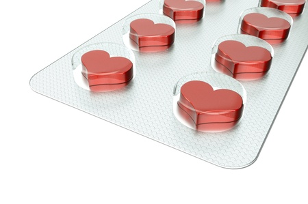 a love tablets isolated on white Stock Photo