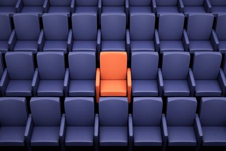 asiento: unas butacas de cine, un asiento especial Foto de archivo