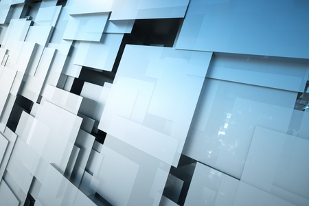 a black cubes abstract background Stock Photo - 11886122