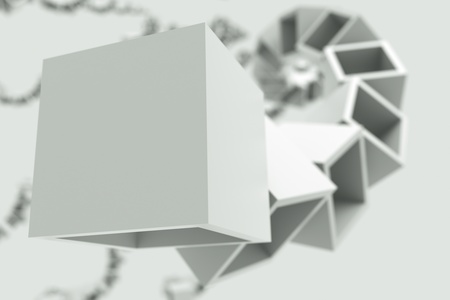 a black and white cubes abstract background photo
