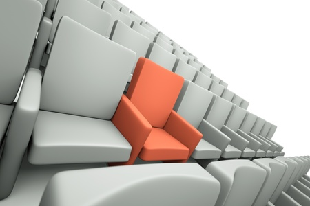 a movie theater seats, one special seat Stock Photo - 12093318