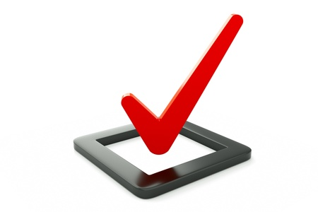 the concept is correct: a checkbox icon isolated on white