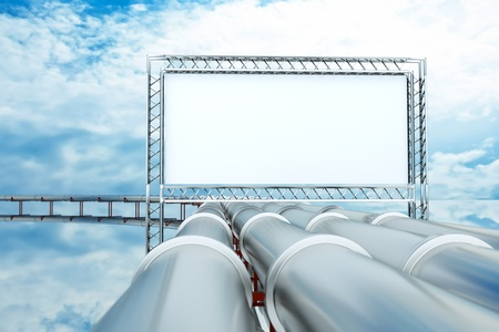 naphtha: a pipelines with metal billboard