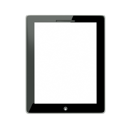 a tablet computer isolated on white Stock Photo - 12377581