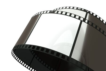a film reel on white photo