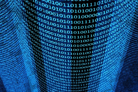 a blue binary codes background Stock Photo - 12377677