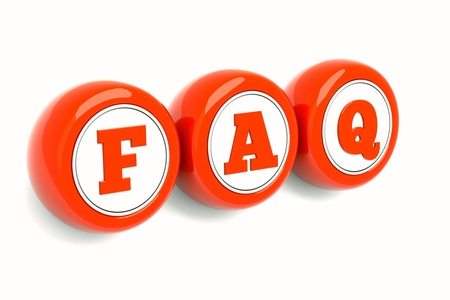 frequently: a red empty round icons isolated on white