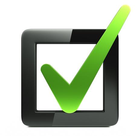 een selectievakje icoon op wit wordt geïsoleerd
