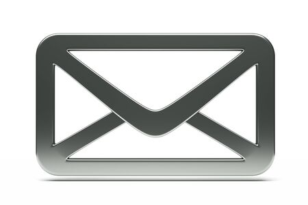 a single mail icon, creative envelope isolated  on white Stock Photo - 12711680