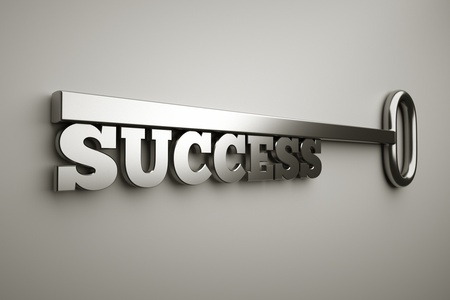 a key with word success, busines concept Stock Photo