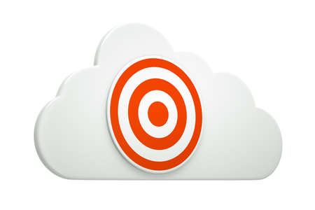 a target on a cloud isolated on white photo
