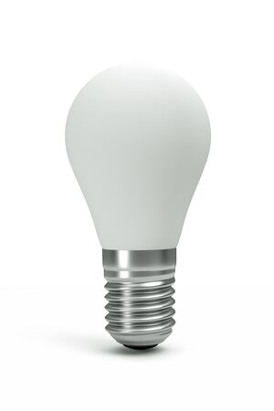 glowing light bulb: a white bulb isolated on white