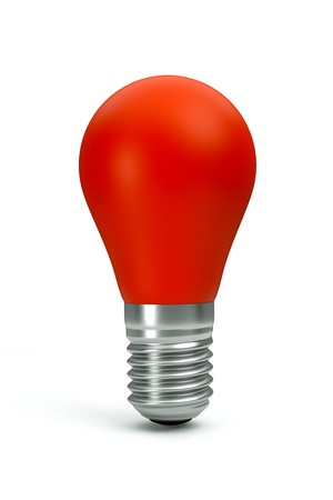a red bulb isolated on white