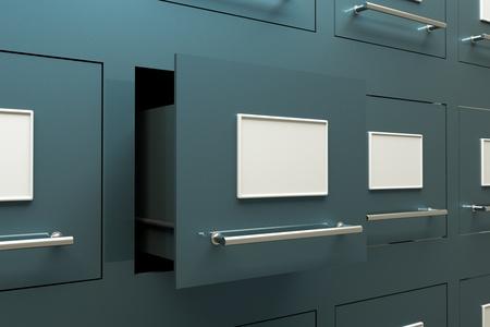 document management: unos armarios de cajones como telón de fondo