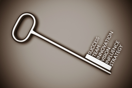 a key with words, business concept Stock Photo - 13019741