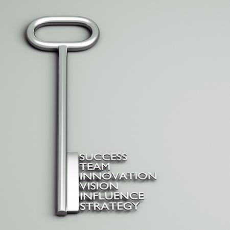 leiderschap: een toets met woorden, business concept Stockfoto