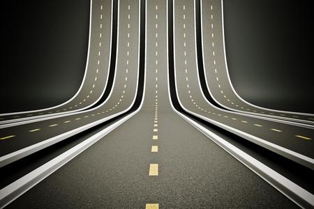 a 3d render of road up, creative idea