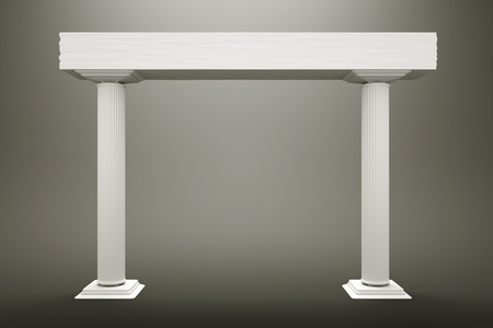 a two columns on grey background photo