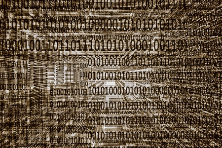a grey binary codes background Stock Photo - 13570715