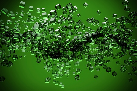 a glass cubes abstract background photo
