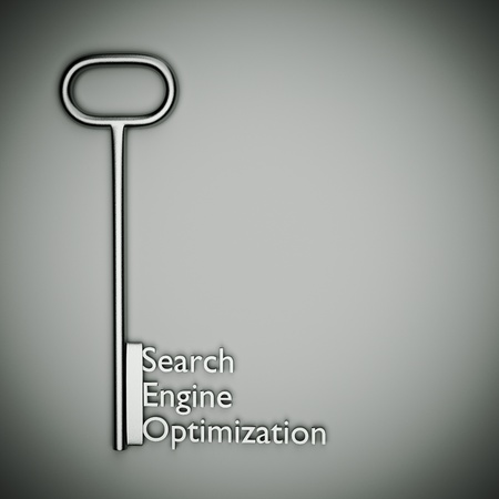 a seo concept on grey Stock Photo - 13930340