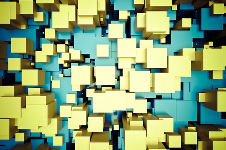 a colorful cubes abstract background photo