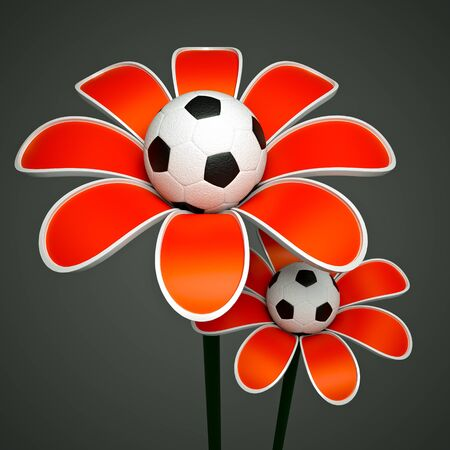 a growing ball as a flower, goal concept photo
