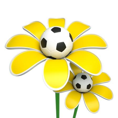 a growing ball as a flower, goal concept Reklamní fotografie