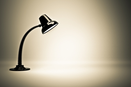 flexible business: a glowing lamp background