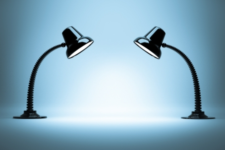 table lamp: a glowing lamps background Stock Photo