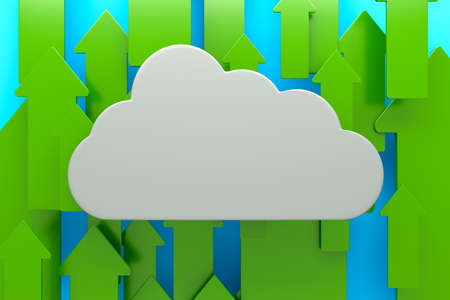 a cloud with arrows as a background Stock Photo - 14095337