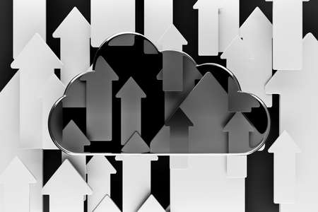a cloud with arrows as a background Stock Photo - 14095336