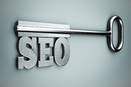 a seo concept on grey Stock Photo - 14095342