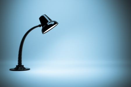 desk lamp: a glowing lamps background Stock Photo