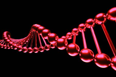 a molecules background on black Stock Photo - 14405314